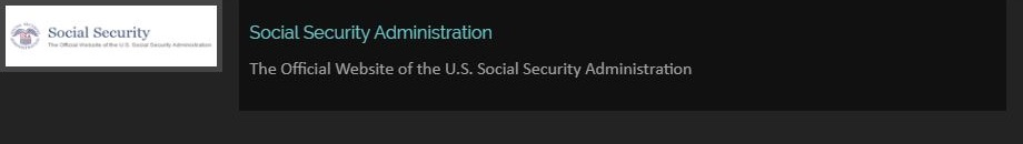 Social Security Administration The Official Website of the U.S. Social Security Administration